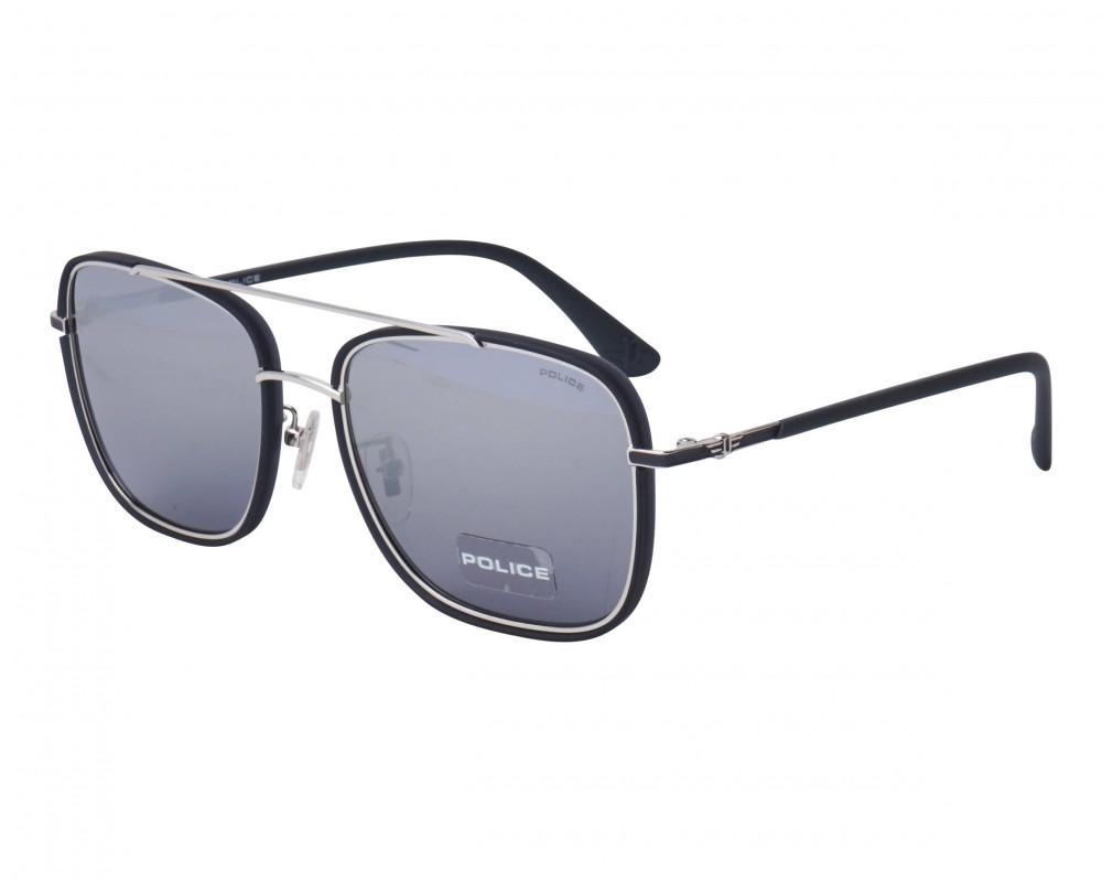 نظارة بوليس شمسية للرجال - شكل مربع - لون أسود - زكي للبصريات