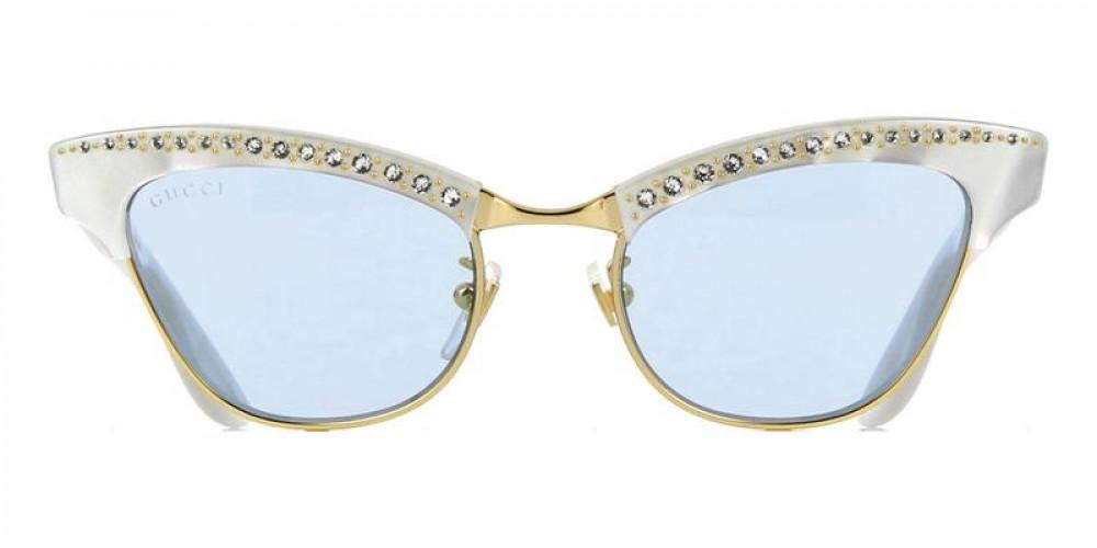 شراء نظارة قوتشي نسائي شمسية - شكل كات أي - لون أبيض - زكي
