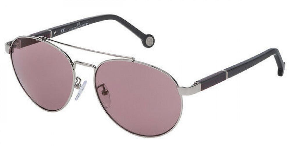 نظارات كارولينا شمسية للنساء - شكل افياتور - لون فضي - زكي