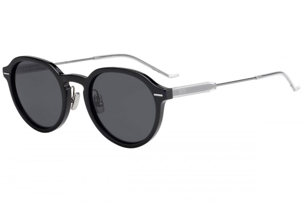 نظارة ديور شمسية للرجال - شكل دائري - لون أسود - زكي للبصريات