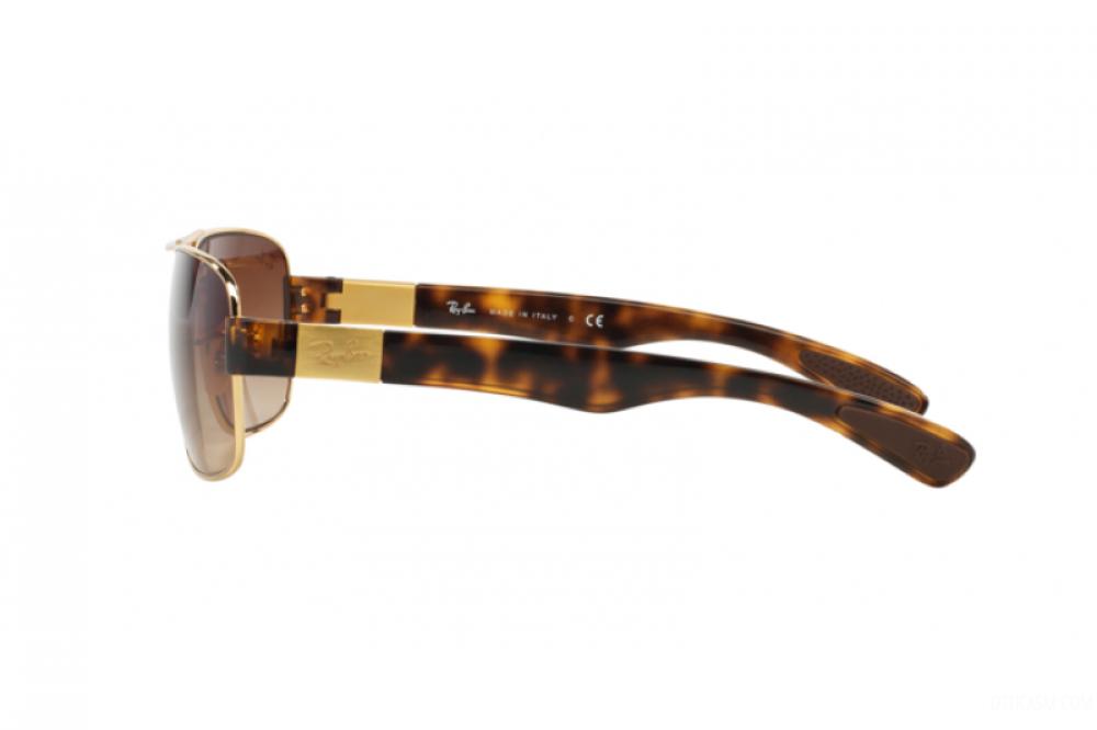 شراء نظارة ريبان شمسية للرجال - مستطيلة الشكل - لون ذهبي - زكي للبصريا