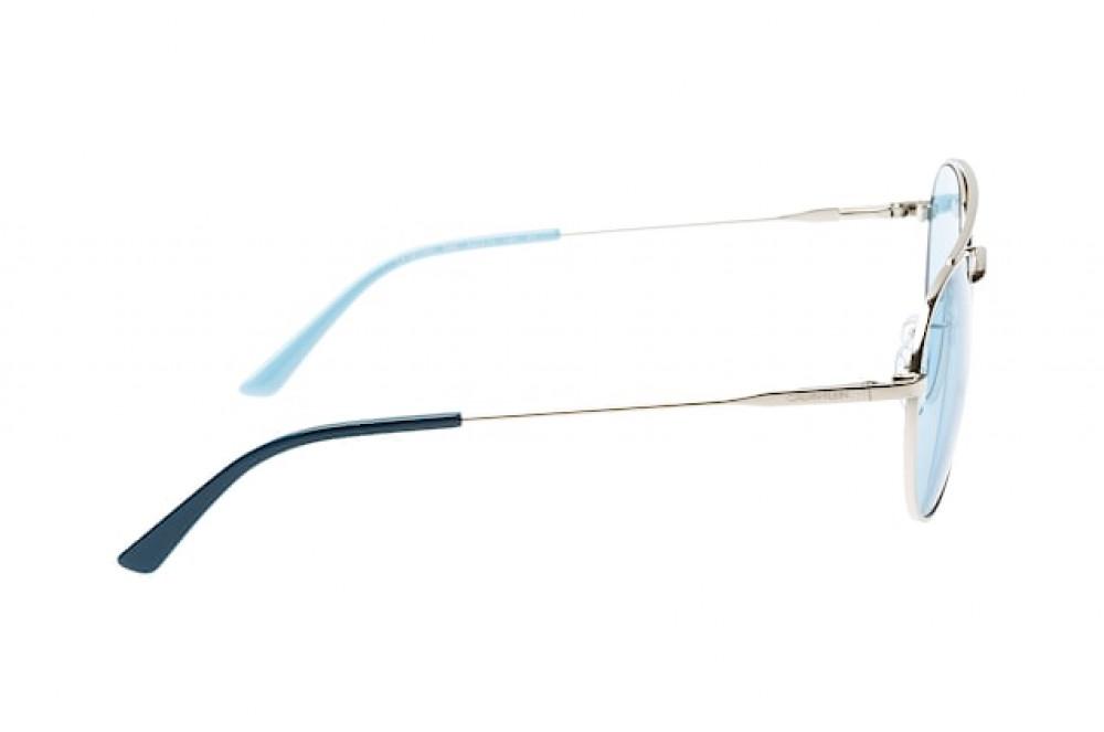 اسعار نظارات كالفن كلاين الشمسية للجنسين - شكل دائري - لون فضي - زكي