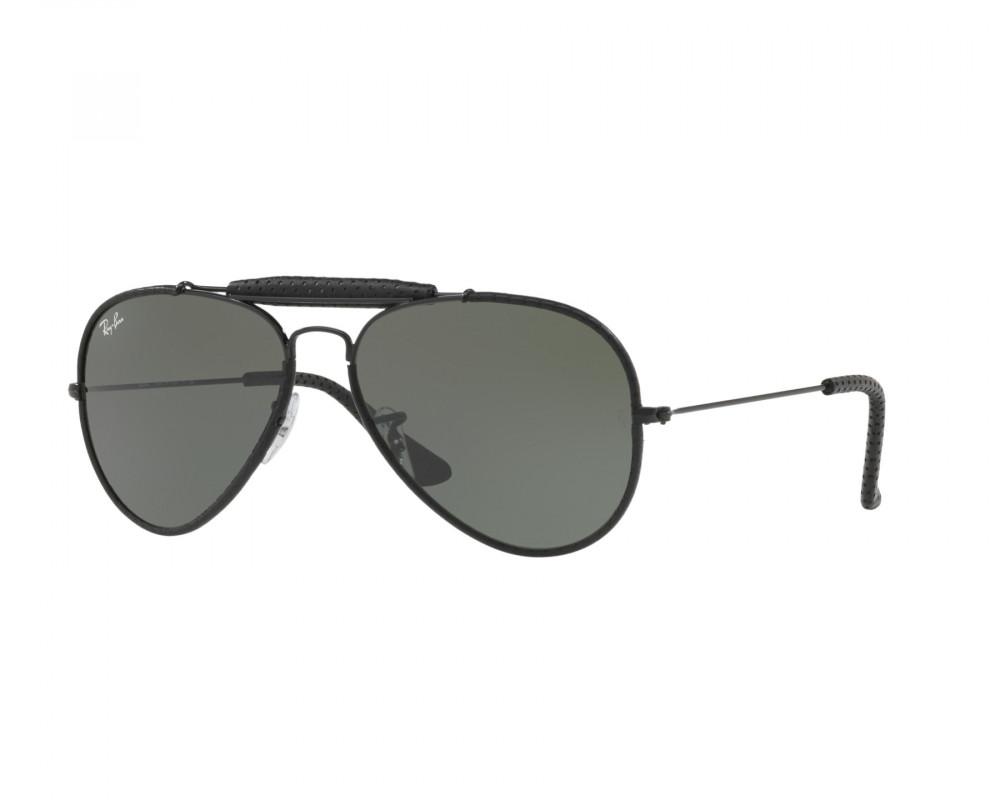 نظارة ريبان شمسية للرجال - اسود - افياتور - زكي للبصريات