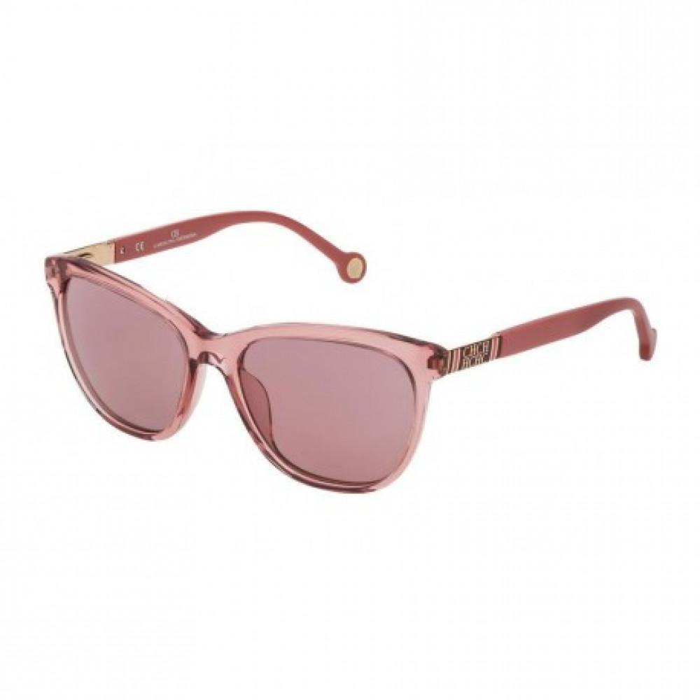 نظارات كارولينا شمسية للنساء - شكل مستطيل - لون وردي - زكي
