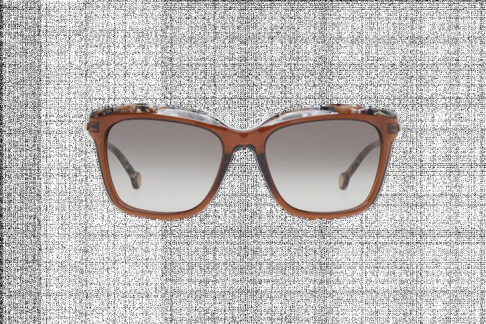 افضل نظارات كارولينا شمسيه للنساء - شكل مستطيل - لون بني - زكي