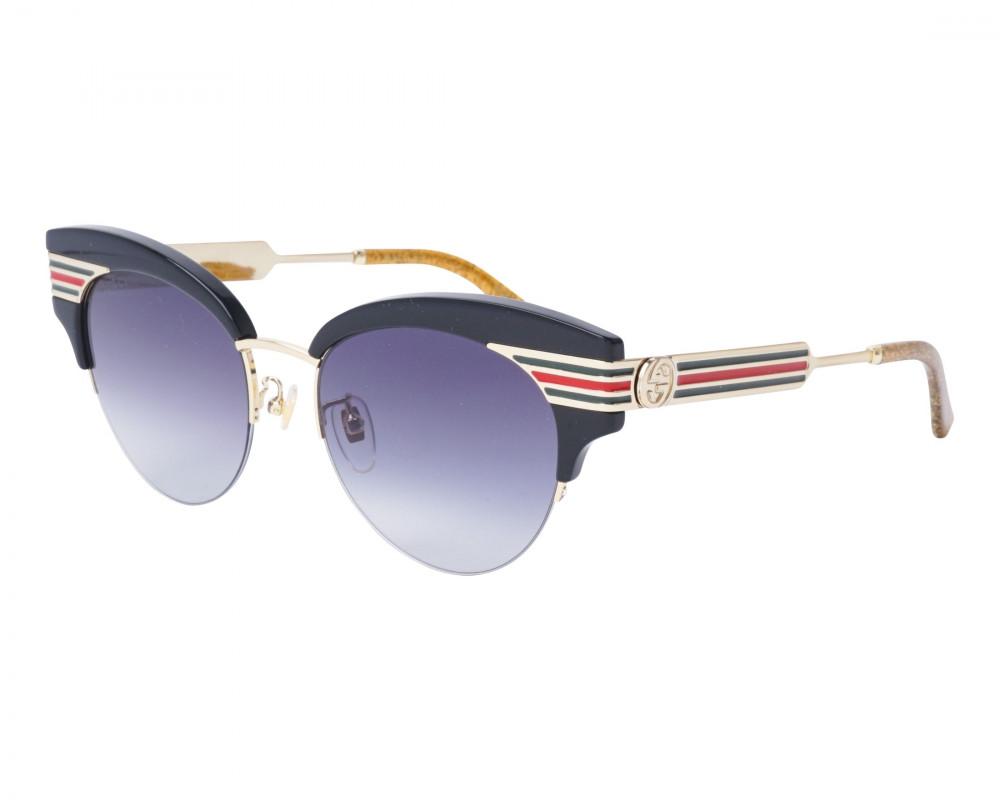 نظارة قوتشي نسائي شمسية - شكل كات اي - لونها اسود - زكي