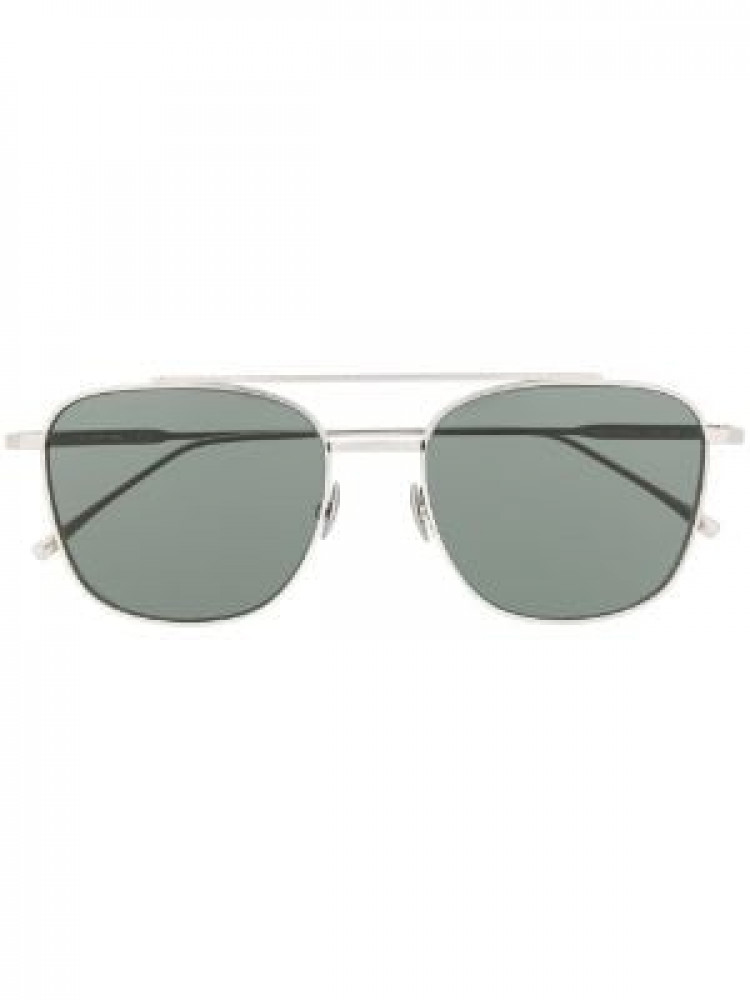 افضل نظارة لاكوست شمسيه للجنسين - شكل افياتور - لون فضي - زكي للبصريات