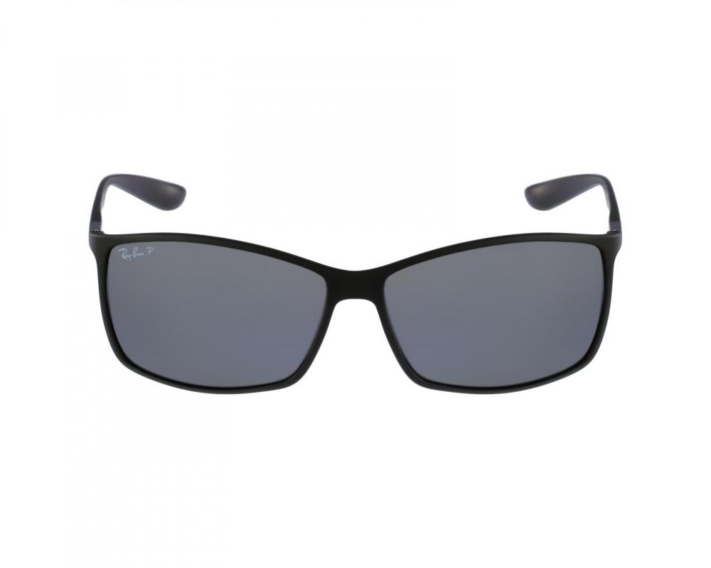 افضل نظارة ريبان شمسية للرجال -  أسود - شكل مستطيل - زكي للبصريات