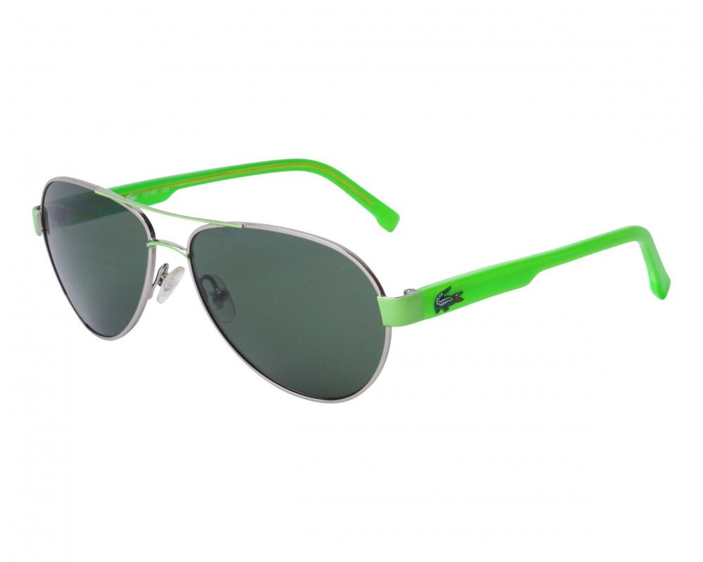 نظارة لاكوست شمسية للجنسين - شكل افياتور - باللون فضي - زكي للبصريات