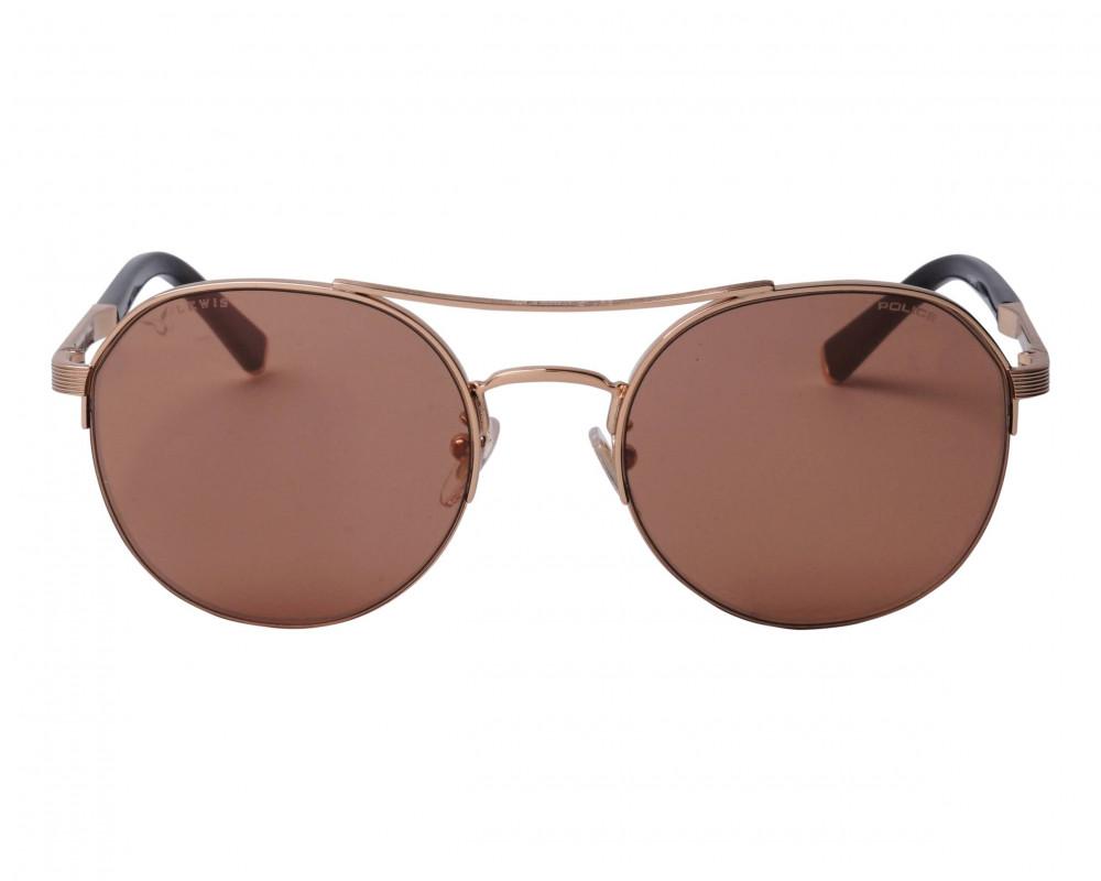 افضل نظارة بوليس شمسية للرجال - شكل دائري - لون نحاسي - زكي للبصريات
