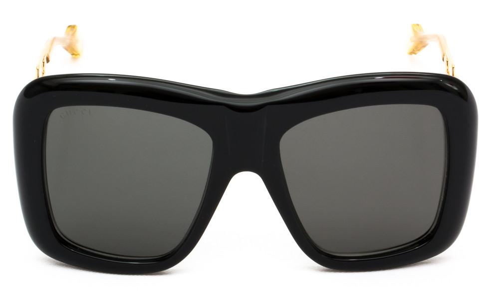 سعر نظارة قوتشي نسائي شمسية - شكل مربع - لون اسود - زكي للبصريات
