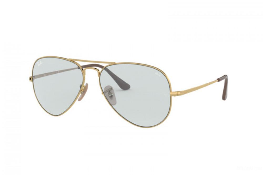 نظارة ريبان شمسية للرجال - افياتور ذهبية - زكي للبصريات