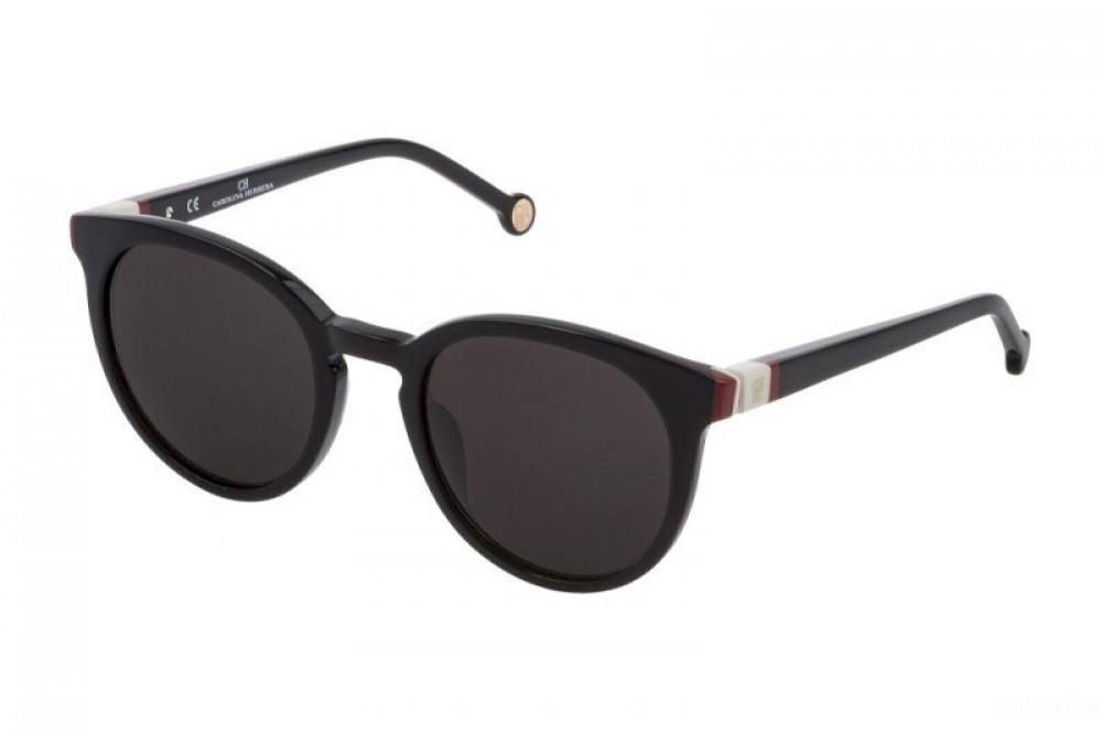 نظارات كارولينا شمسية للنساء - شكل دائري - لون أسود - زكي