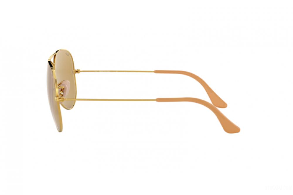 شراء نظارة ريبان شمسية رجالية ونسائيه - افياتور - لون ذهبي - زكي للبصر