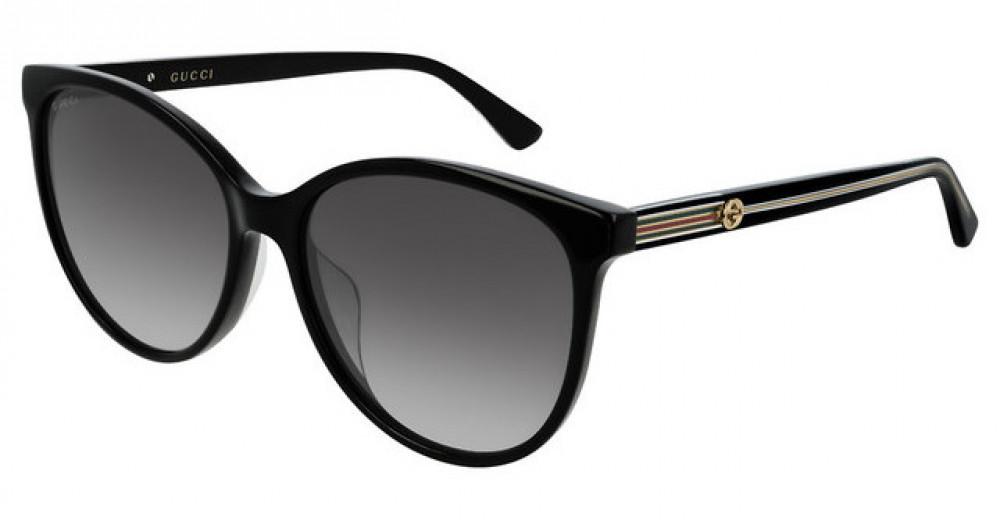 نظارة قوتشي نسائي شمس - شكل كات أي - لونها الاسود - زكي
