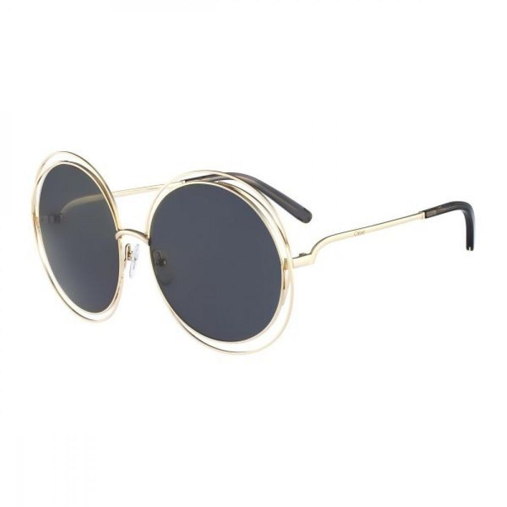 نظارة كلوي شمسية للنساء - شكل دائري - لون رمادي - زكي للبصريات