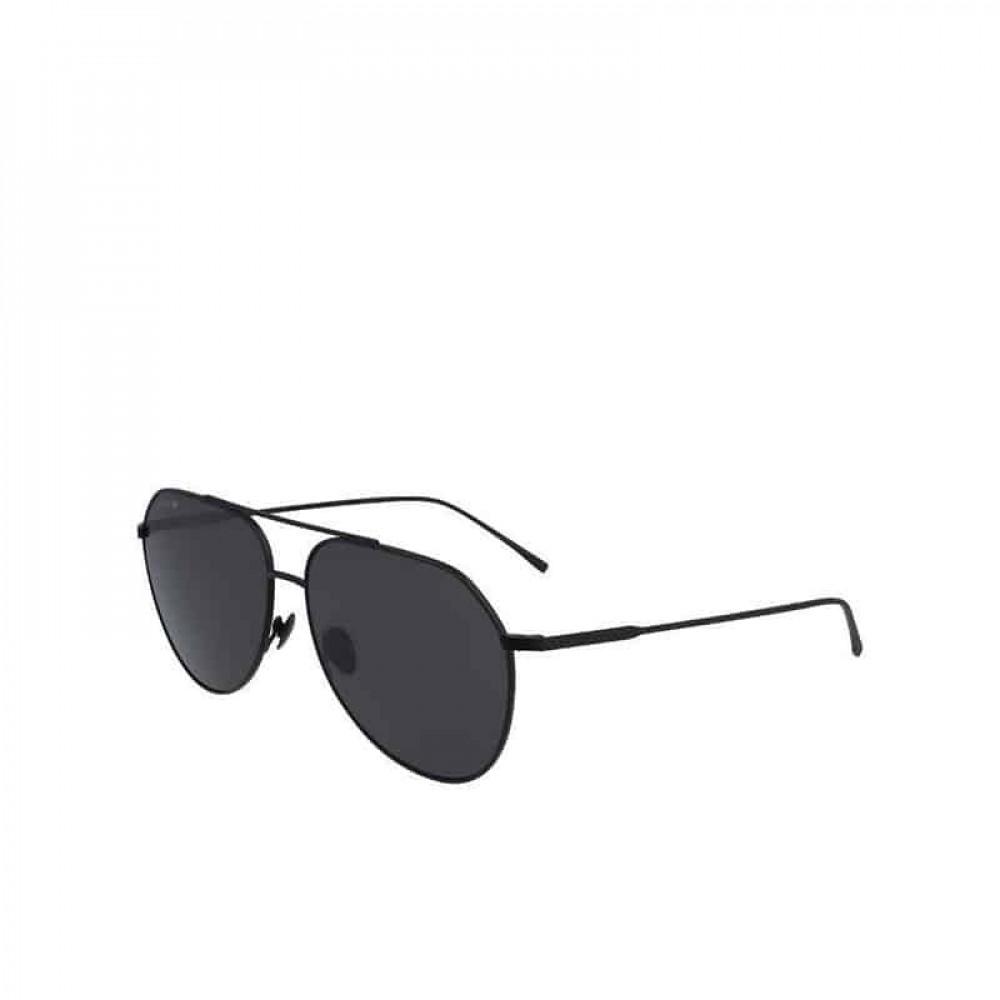 نظارة لاكوست شمسية للجنسين - شكل أفياتور - لون أسود - زكي للبصريات