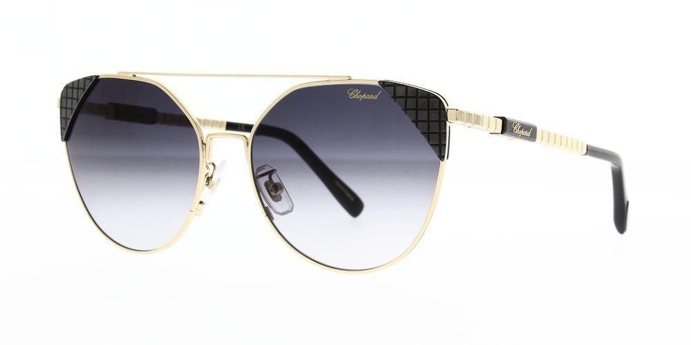 نظارات شوبارد نسائية شمسية - شكل غير منتظم - لون ذهبي - زكي