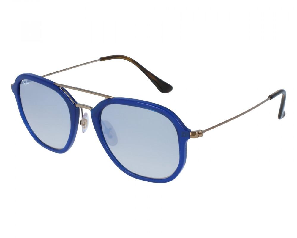 نظارة ريبان شمسية للرجال -  أزرق - زكي للبصريات