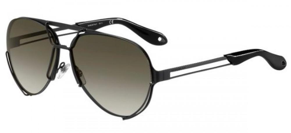 نظارة جيفنشي شمسية للرجال - افياتور - باللون الأسود - زكي للبصريات