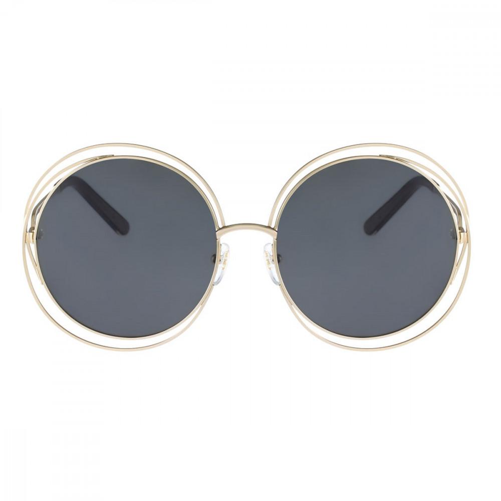 سعر نظارة كلوي شمسية للنساء - شكل دائري - لون رمادي - زكي للبصريات