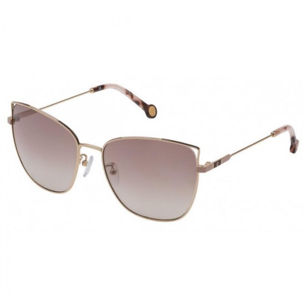 نظارات كارولينا شمسيه للنساء - شكل كات أي - لون ذهبي - زكي