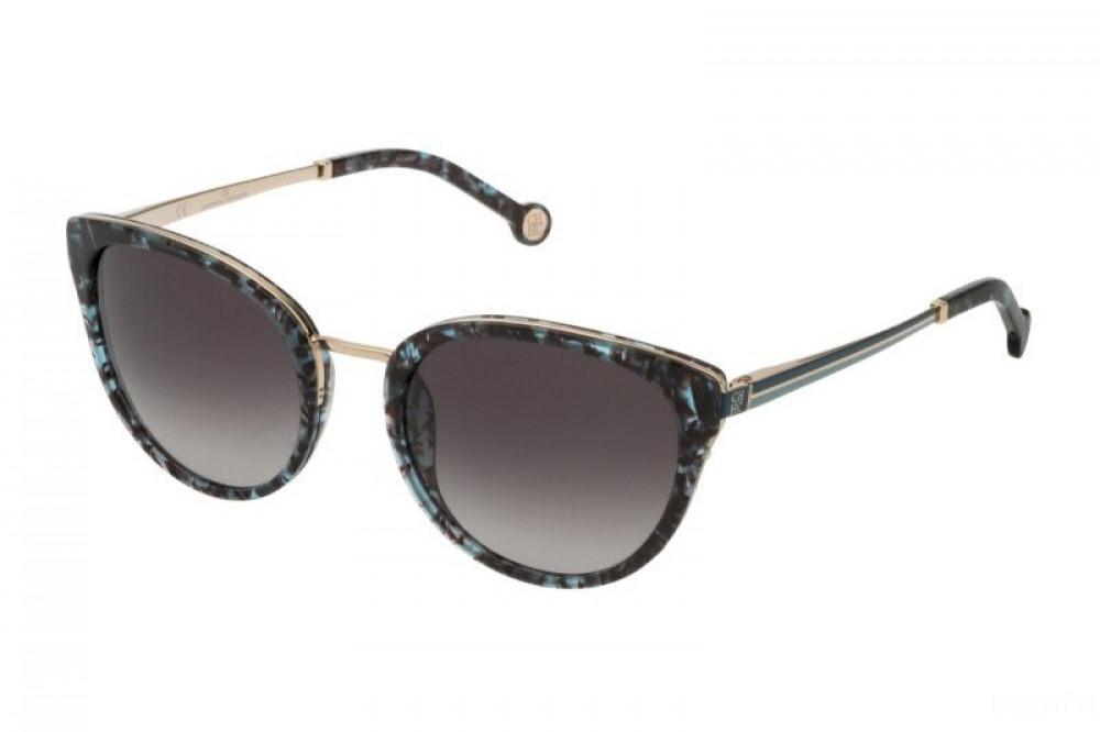 نظارات كارولينا شمسية للنساء - الشكل دائري - لون اسود - زكي