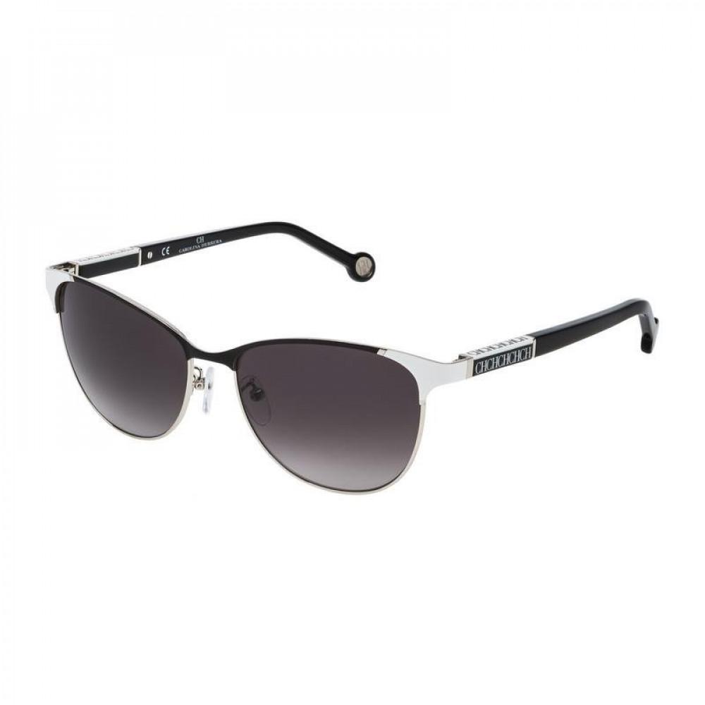 نظارات كارولينا شمسية نسائية - شكل واي فيرر - لون اسود - زكي