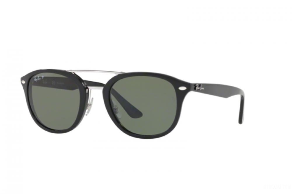نظارة ريبان شمسيه للرجال - شكل واي فير - باللون الأسود - زكي
