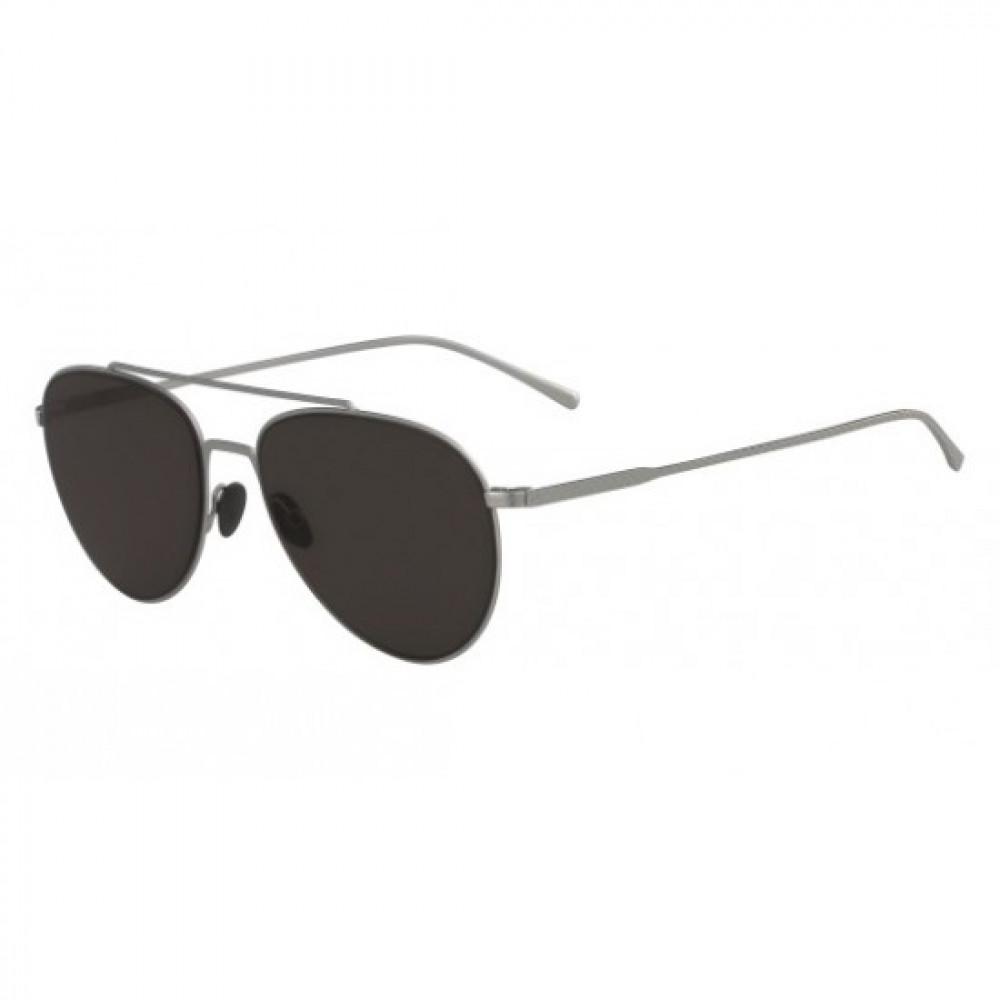 نظارة لاكوست شمسية للرجال والنساء - شكل افياتور - لون فضي - زكي