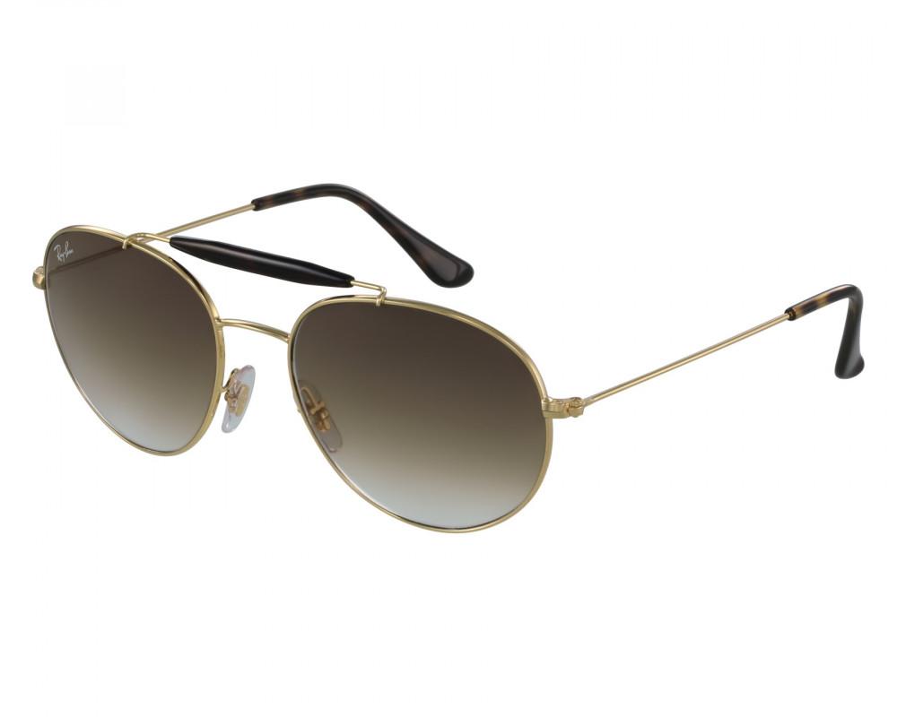 نظارة ريبان شمسية للرجال والنساء - ذهبية اللون - دائرية الشكل - زكي