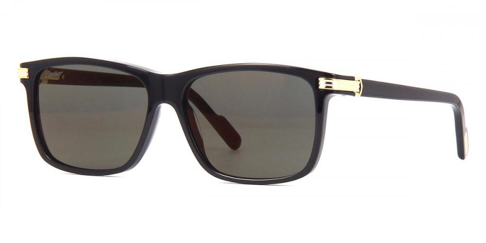نظارات شمسية رجالية كارتير - مربع - اسود - زكي
