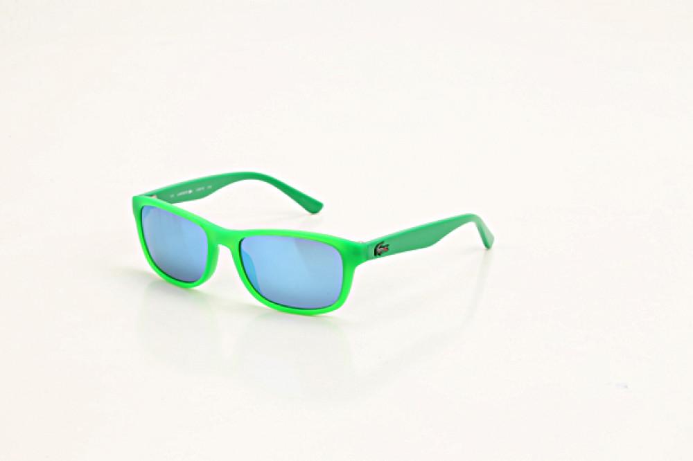 نظارة لاكوست شمسيه للاطفال - شكل مستطيل - لون أخضر - زكي