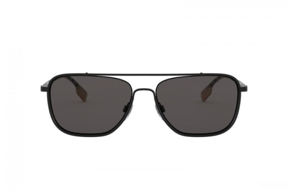 شراء نظارة بربري شمسية للرجال - شكل مستطيل - لون أسود - زكي للبصريات