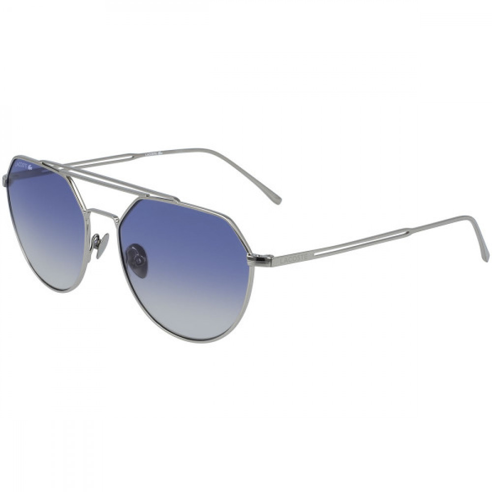 نظارة لاكوست شمسية للجنسين - شكل افياتور - لون فضي - زكي للبصريات