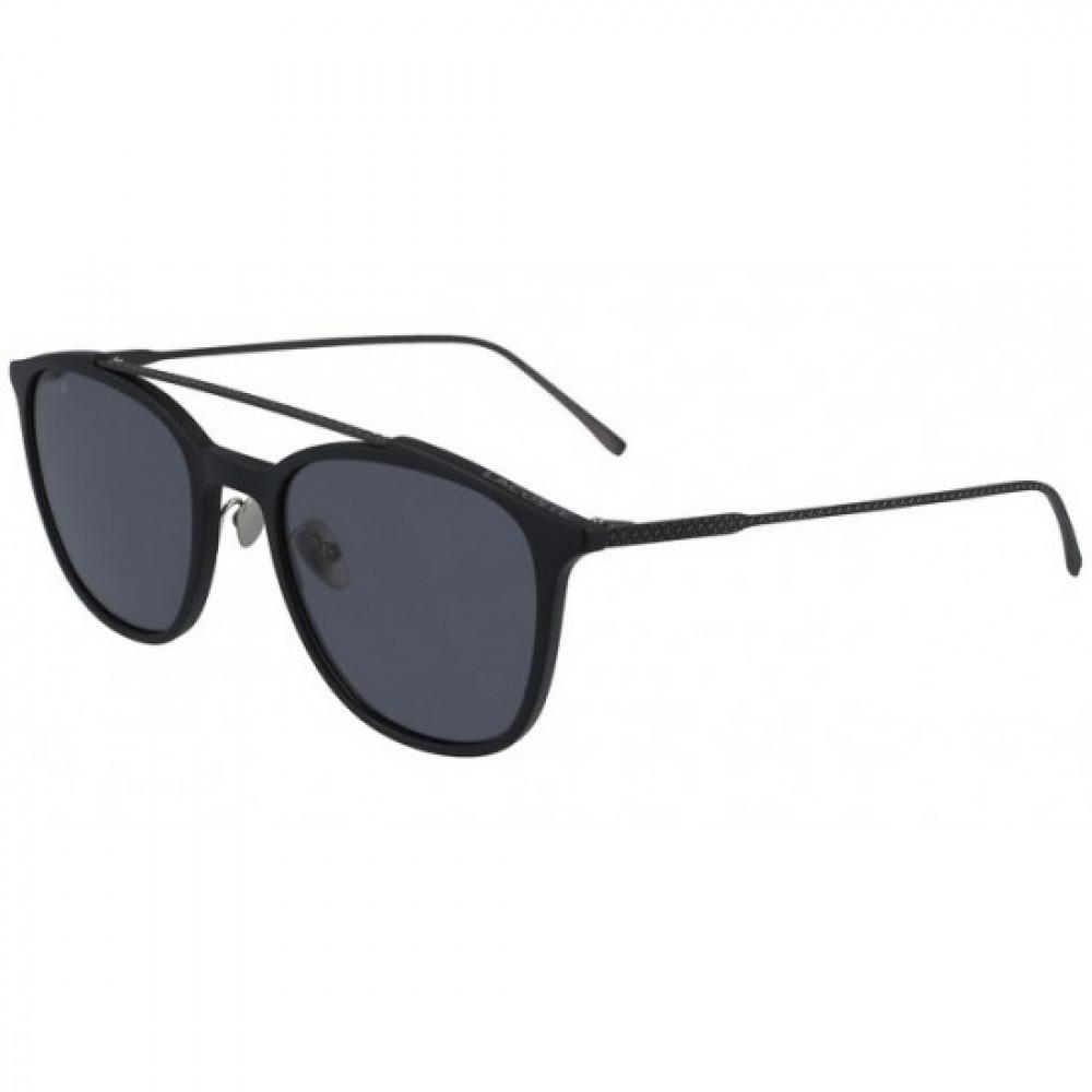 نظارة لاكوست شمسية للرجال - شكل مربع - لون أسود - زكي للبصريات