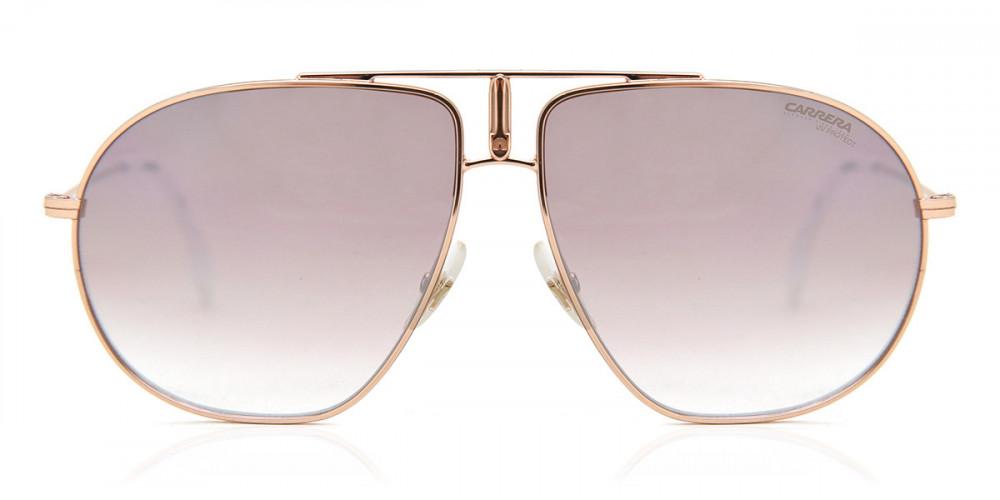 نظارة كاريرا شمسية للجنسين - شكل أفياتور - لونها الذهبي - زكي للبصريا