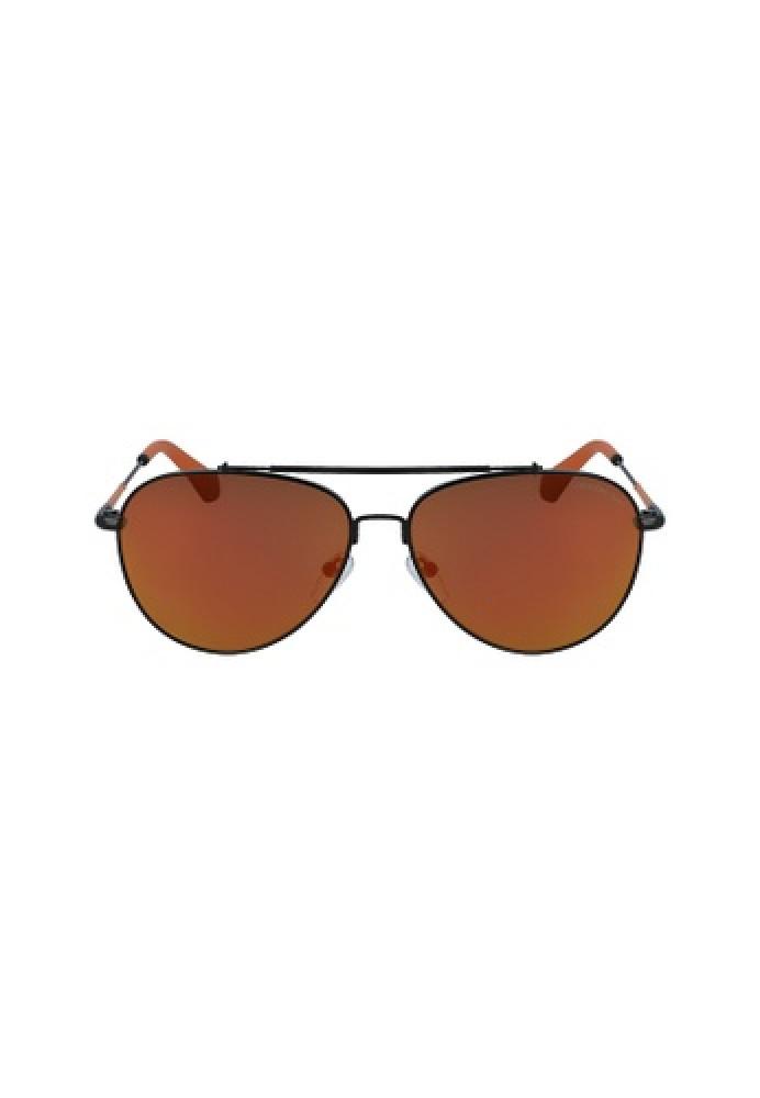 نظارات كالفن كلاين الشمسه للجنسين - شكل افياتور - اسود - زكي للبصريات
