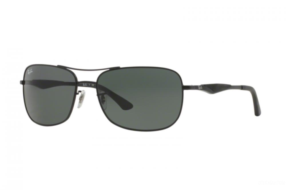 نظارة ريبان شمسية للرجال - شكل مستطيل - لون أسود - زكي للبصريات