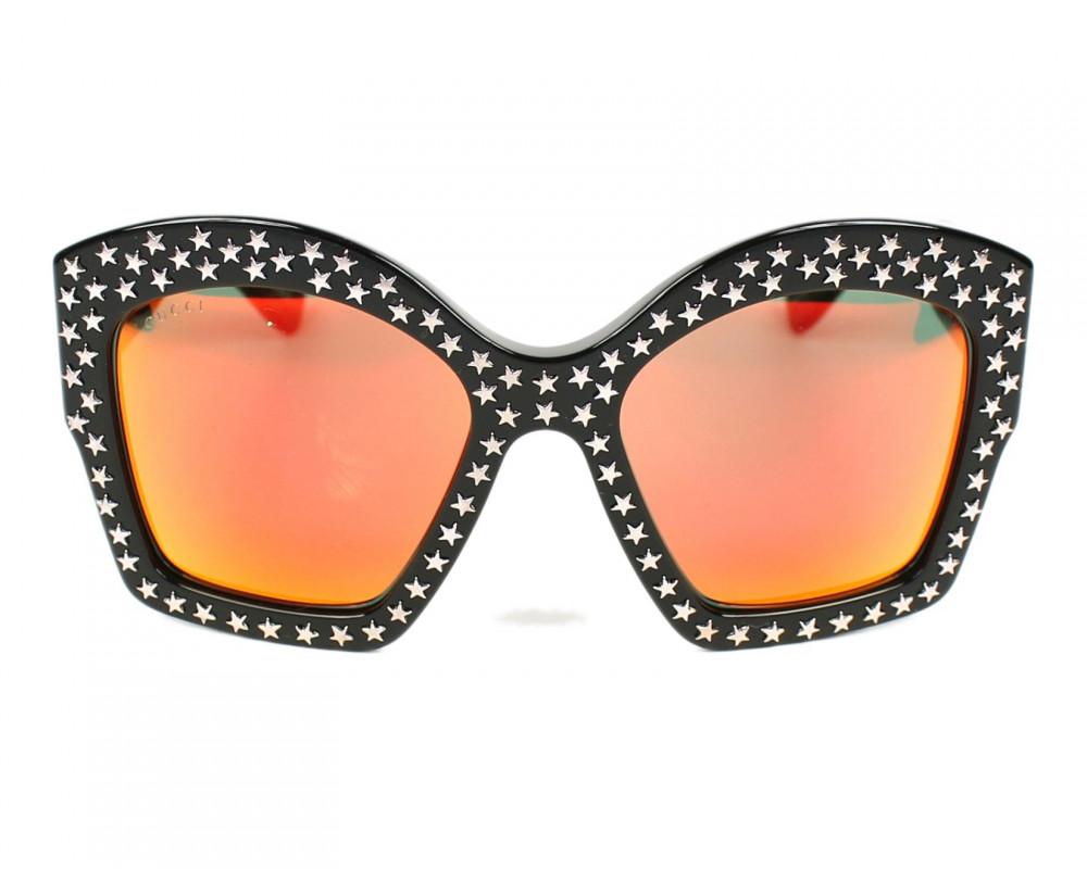 افضل نظارة قوتشي نسائي شمسيه - شكل مربع - لون اسود - زكي للبصريات
