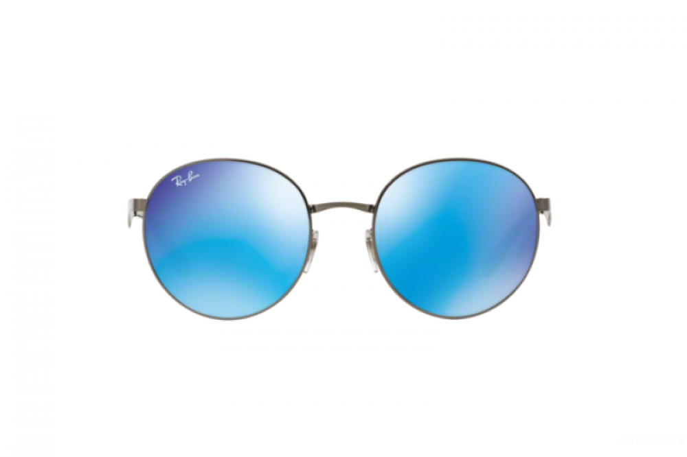 شراء نظارة ريبان شمسية للرجال والنساء - دائرية الشكل ولون فضي - زكي