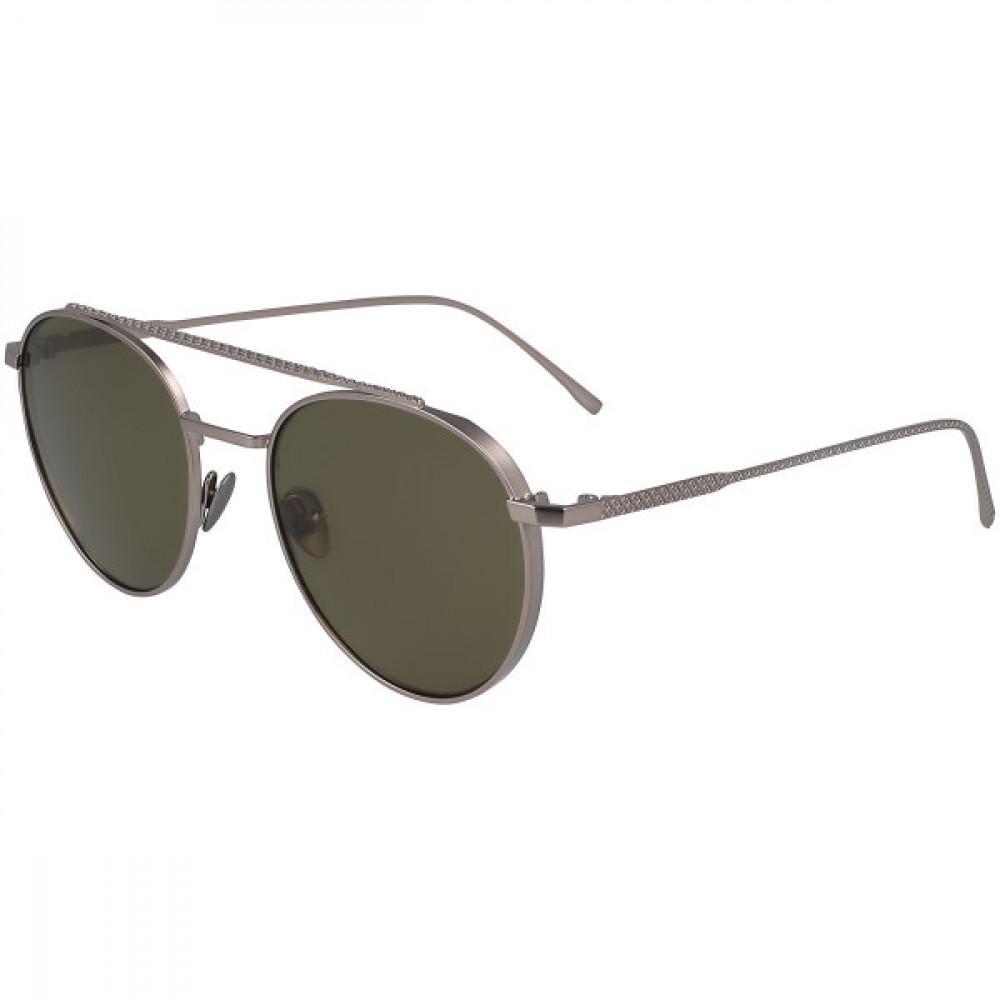 نظارة لاكوست شمسيه للجنسين - شكل دائري - باللون فضي - زكي للبصريات