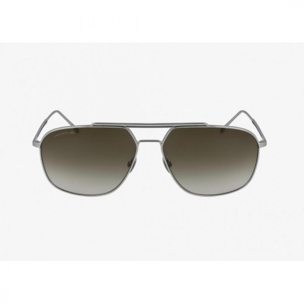 افضل نظارة لاكوست شمسية للرجال والنساء - شكل افياتور - فضي - زكي