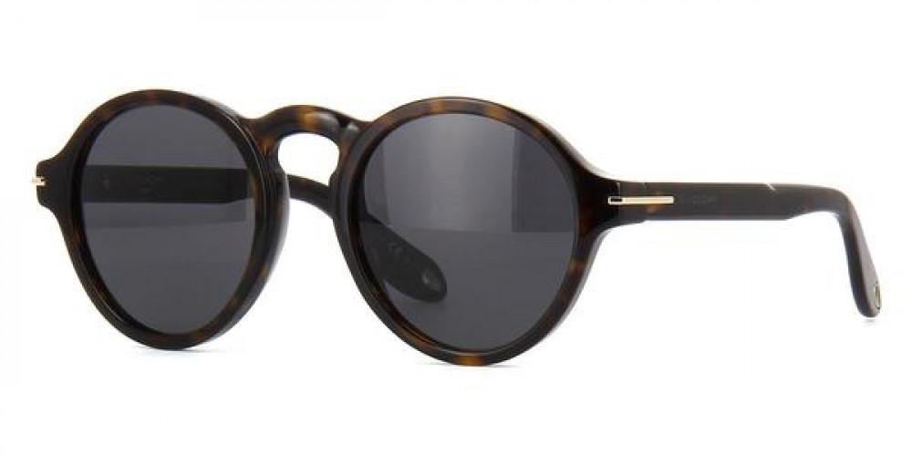 نظارة جيفنشي شمسيه للجنسين - شكل دائري - لون أسود - زكي للبصريات
