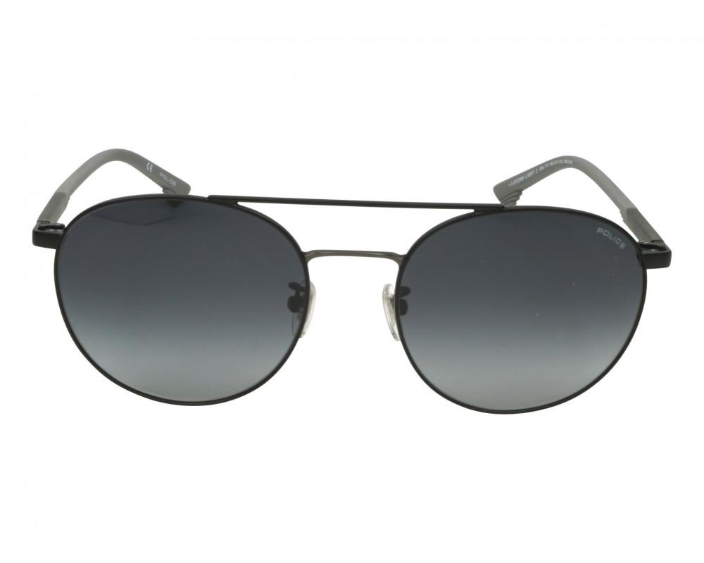 افضل نظارة بوليس شمسيه رجالية - شكل دائري - لون اسود - زكي للبصريات