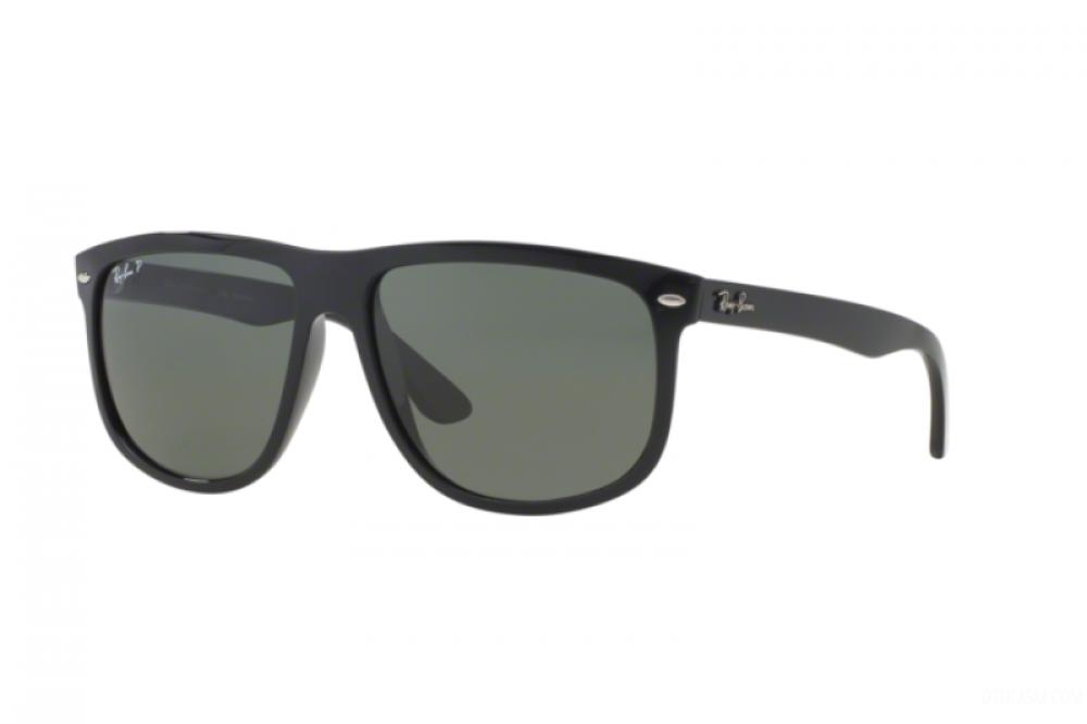 نظارة ريبان شمسية للرجال -  أسود - شكل مربعي - زكي للبصريات