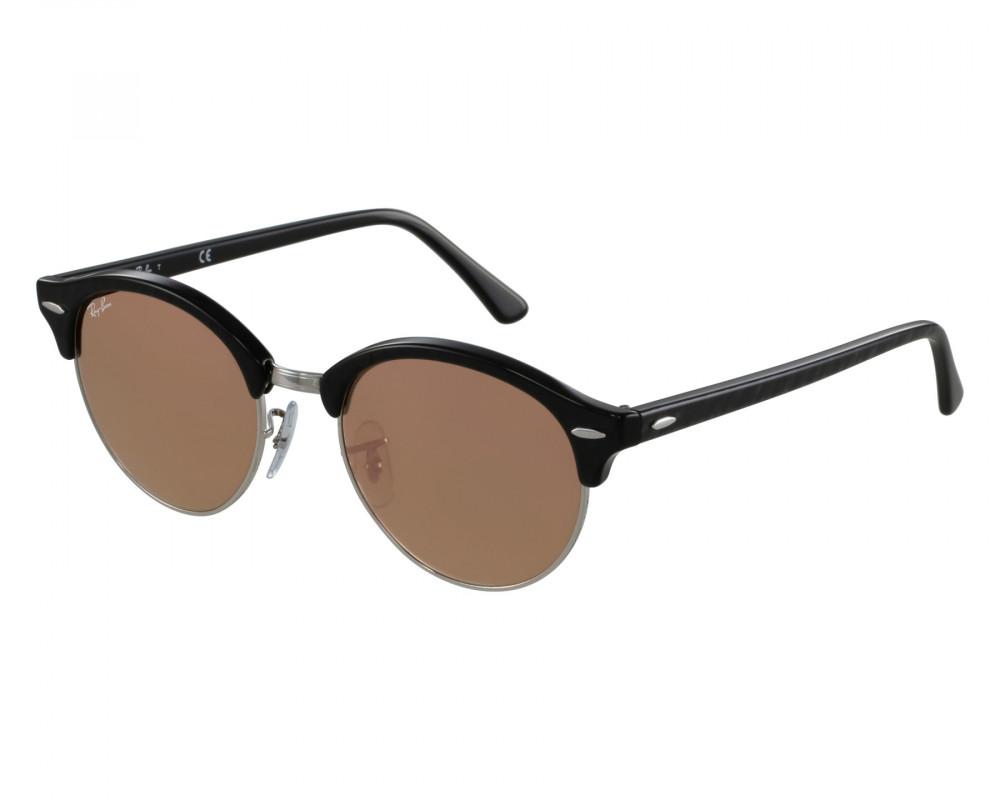 نظارة ريبان شمسية للرجال -  أسود - دائريه - زكي للبصريات