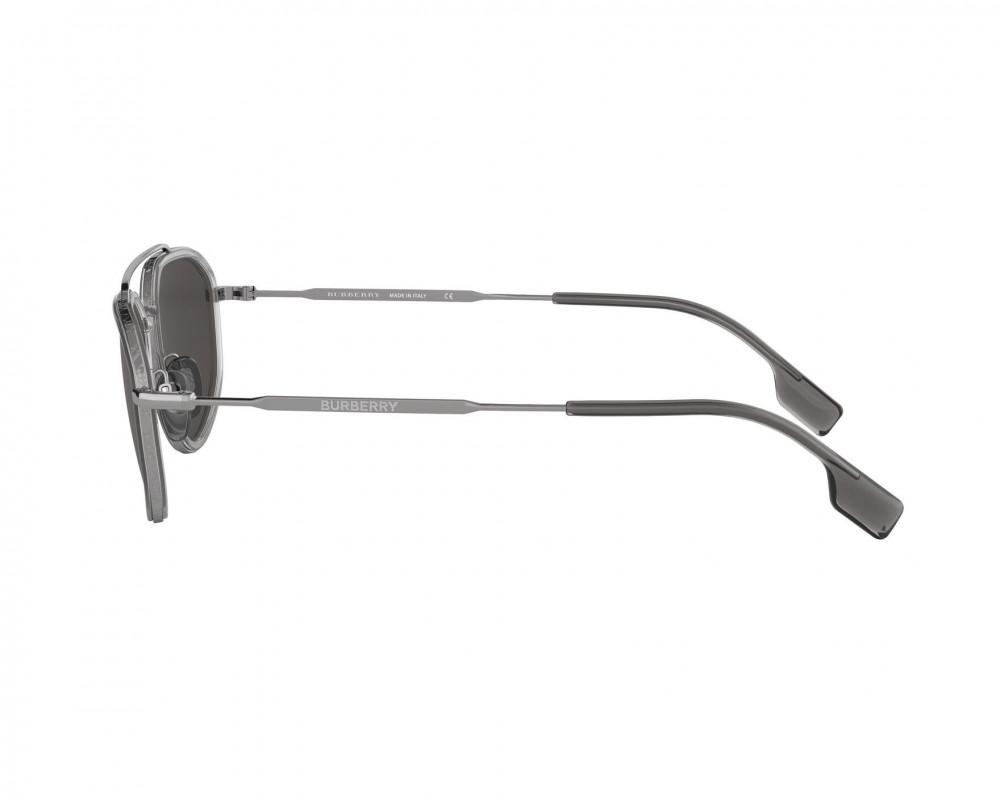 نظارة بربري شمسية للرجال - شكل غير منتظم واللون فضي - زكي للبصريات