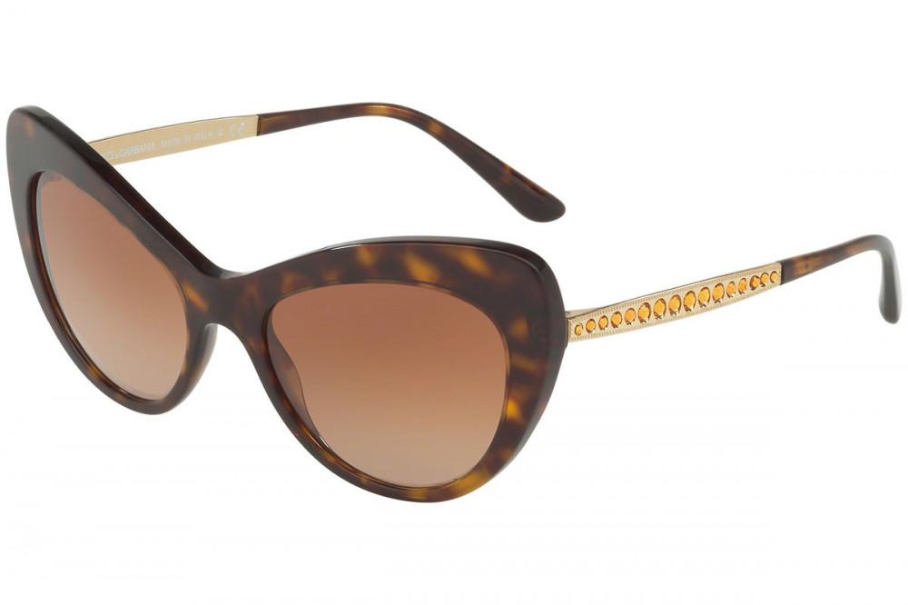 نظارة دولسي اند جابانا شمسية للنساء - شكل كات أي - لون تايقر - زكي