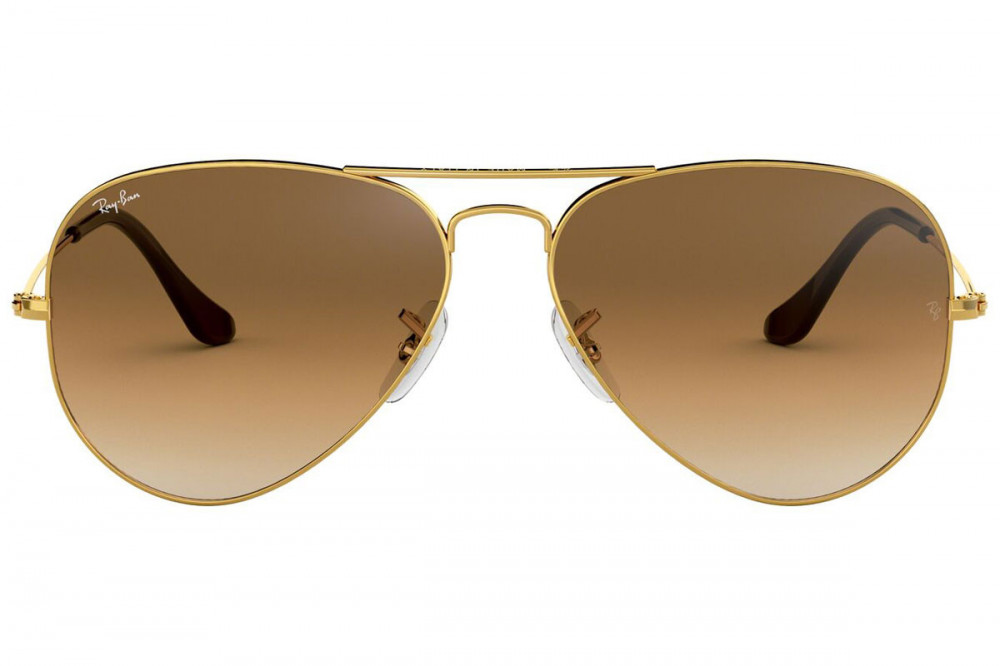 افضل نظارة ريبان شمسية للجنسين - شكل افياتور - لون ذهبي - زكي للبصريات